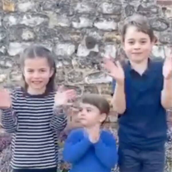 William & Kate's Kids Clap For Healthcare Workers Fighting